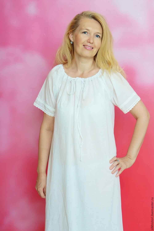 065dac055ebe Ночная сорочка из батиста Лизонька,подарок подруге – купить в  интернет-магазине ...