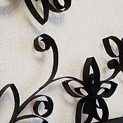 """Картины ручной работы. Ярмарка Мастеров - ручная работа Панно на стену """"Кованные цветы"""". Handmade."""
