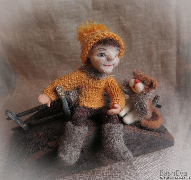 Два Василия, миниатюра из шерсти, Куклы и пупсы, Москва,  Фото №1