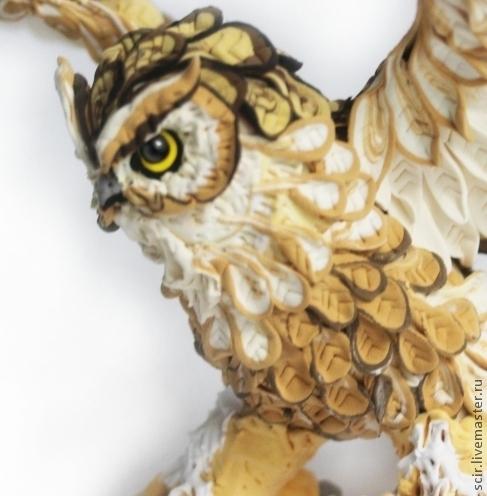 """Игрушки животные, ручной работы. Ярмарка Мастеров - ручная работа. Купить фигурка """"Филин"""" (большая сова, статуэтка совы). Handmade."""
