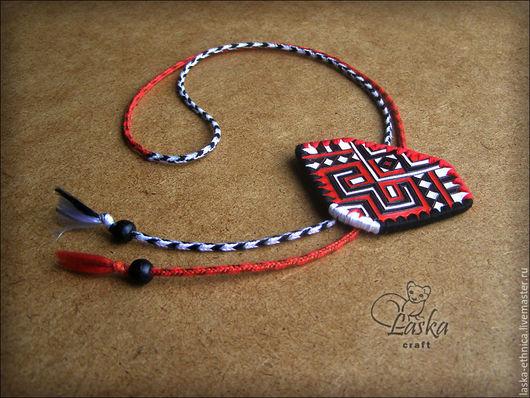Кулоны, подвески ручной работы. Ярмарка Мастеров - ручная работа. Купить Кулон-галстук «Красное и черное». Handmade. Комбинированный
