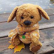 """Мягкие игрушки ручной работы. Ярмарка Мастеров - ручная работа Тедди-щенок """"Дружок"""". Handmade."""