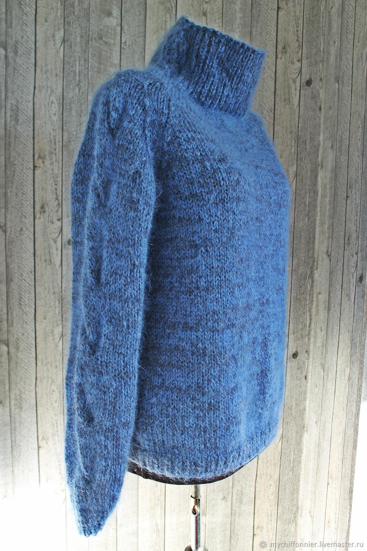 Зимний пуловер/свитер цвета джинсовый меланж, Пуловеры, Тольятти,  Фото №1