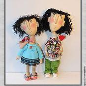 Куклы и игрушки ручной работы. Ярмарка Мастеров - ручная работа Подруги Танечка и Сарочка. Handmade.