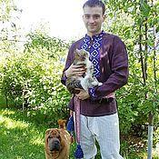 Народные рубахи ручной работы. Ярмарка Мастеров - ручная работа Рубаха мужская с вышивкой. Handmade.