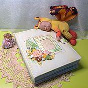 Канцелярские товары ручной работы. Ярмарка Мастеров - ручная работа Альбом для мальчика  Мой первый годик. Handmade.