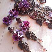 Украшения ручной работы. Ярмарка Мастеров - ручная работа Лиловый комплект   Lilac Set. Handmade.