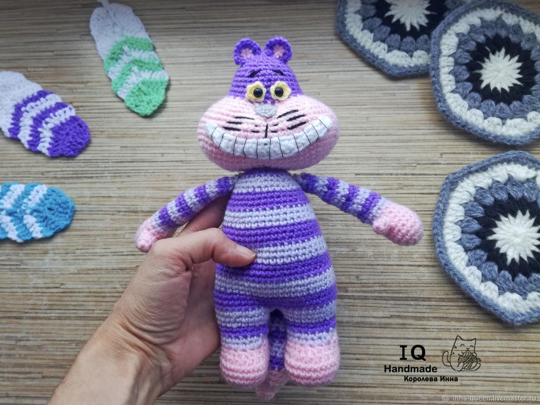 Игрушка вязаная Чеширский кот, Мягкие игрушки, Новосибирск,  Фото №1