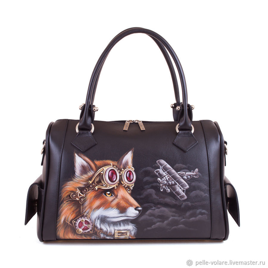 The average ladies handbag 'Fox pilot', Classic Bag, St. Petersburg,  Фото №1