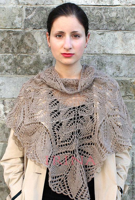 Pure wool beige shawl, Shawls, Lomonosov,  Фото №1
