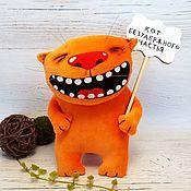 Куклы и игрушки handmade. Livemaster - original item Cat of unrestrained happiness, soft toy red cat Vasya Lozhkina. Handmade.