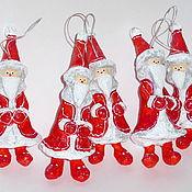 Подарки к праздникам ручной работы. Ярмарка Мастеров - ручная работа Санта-Клаус. Елочные игрушки из папье-маше. Handmade.
