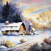 Картины и панно handmade. Livemaster - original item 06 oil Painting landscape Cozy Zimmer Chernov. Handmade.