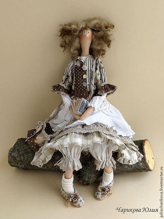Куклы Тильды ручной работы. Ярмарка Мастеров - ручная работа. Купить Чудачка стоящая внимания. Handmade. Серый, подарок, марлёвка