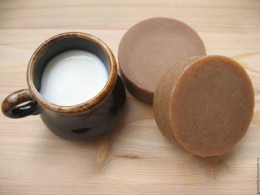 Мыло ручной работы. Ярмарка Мастеров - ручная работа. Купить Мыло с нуля Молочное. Handmade. Бежевый, мыло с нуля