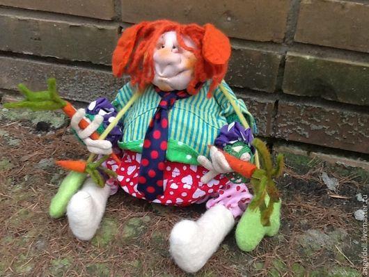 """Коллекционные куклы ручной работы. Ярмарка Мастеров - ручная работа. Купить """"на любовь-морковь)))"""". Handmade. Рыжий, текстиль"""