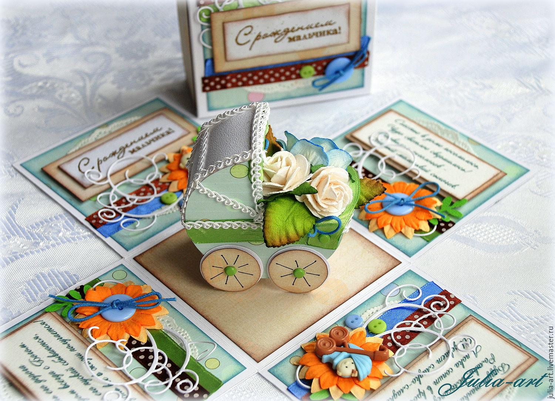 Купить Открытка- коробка с днем рождения Сиренево-желтая 33