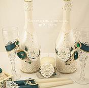 Свадебный салон ручной работы. Ярмарка Мастеров - ручная работа Свадебный набор ``Изумруд``. Handmade.