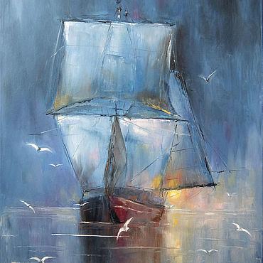 Картины и панно ручной работы. Ярмарка Мастеров - ручная работа Корабль-призрак. Handmade.