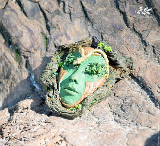 """Кулоны, подвески ручной работы. Ярмарка Мастеров - ручная работа. Купить Кулон из полимерной глины """"Дух дерева"""". Handmade. Зеленый"""