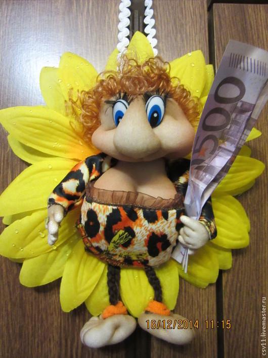 Коллекционные куклы ручной работы. Ярмарка Мастеров - ручная работа. Купить кукла текстильная -Пчелка. Handmade. Разноцветный, прикольный подарок