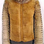 Одежда ручной работы. Ярмарка Мастеров - ручная работа Жакет из щипанной норки и лисы комбинированный. Handmade.