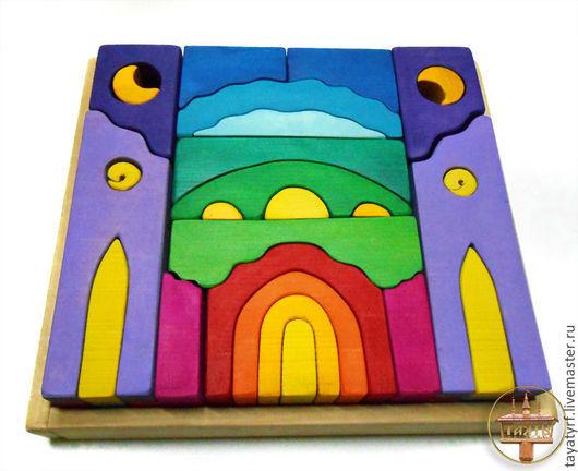 Развивающие игрушки ручной работы. Ярмарка Мастеров - ручная работа. Купить Замок Конструктор. Handmade. Конструктор, замок, деревянная игрушка