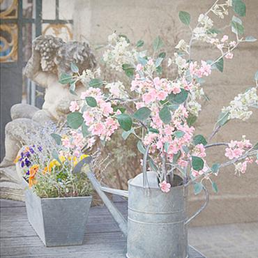 Картины и панно ручной работы. Ярмарка Мастеров - ручная работа Фотокартина цветы, весенние розовые цветы, Весна в Париже пастель. Handmade.