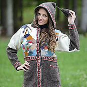 Одежда ручной работы. Ярмарка Мастеров - ручная работа Пальто вязаное 14WJ24. Handmade.