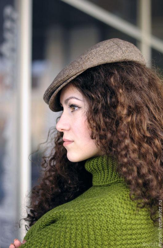 Кепки ручной работы. Ярмарка Мастеров - ручная работа. Купить Коричневая твидовая кепка унисекс для любителей стильных нарядов. Handmade.