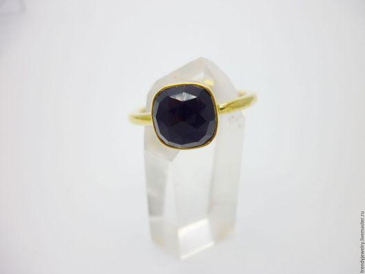 Кольца ручной работы. Ярмарка Мастеров - ручная работа. Купить Серебряное кольцо с позолотой с черным ониксом. Handmade. Черный