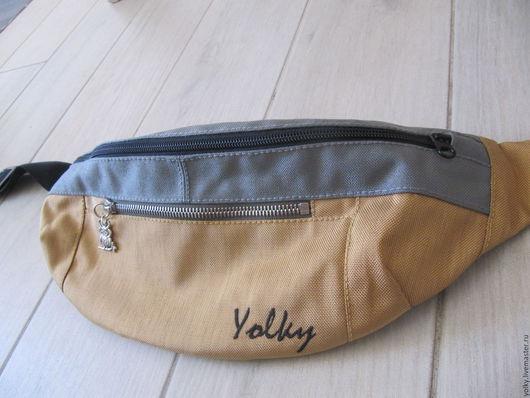 Спортивные сумки ручной работы. Ярмарка Мастеров - ручная работа. Купить поясная сумка, бананка. Handmade. Комбинированный, поясная сумка