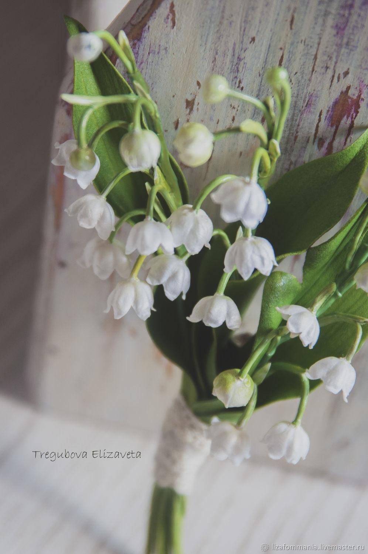 """Броши ручной работы. Ярмарка Мастеров - ручная работа. Купить """"Ландыши"""" Брошь. Handmade. Ландыши, брошь с цветами, цветы на заказ"""