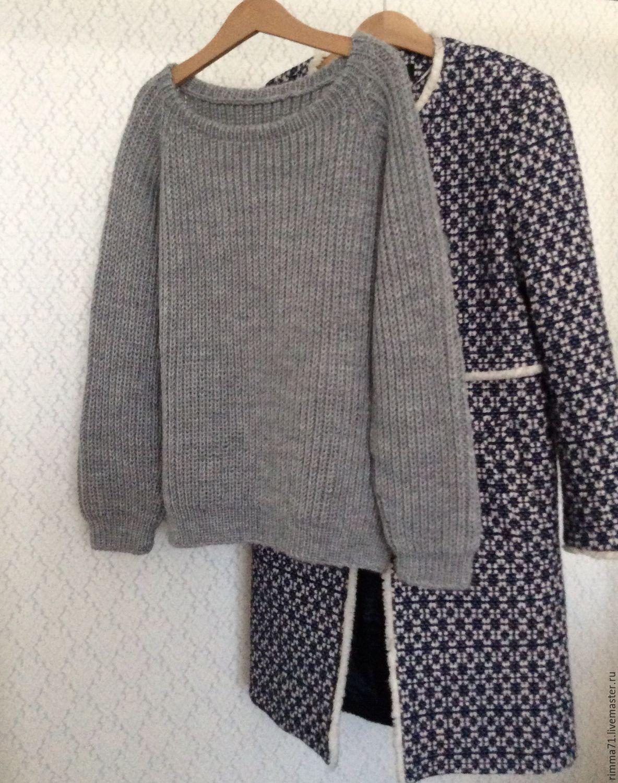 Кардиган свободного кроя - Baggy sweater - Modnoe Vyazanie m 60