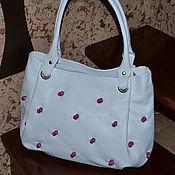 Сумки и аксессуары handmade. Livemaster - original item Classic bag: Leather bag in White bag Model 323. Handmade.
