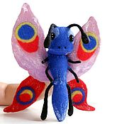 Puppet show handmade. Livemaster - original item Butterfly felting hand toy, glove doll, puppet theater. Handmade.