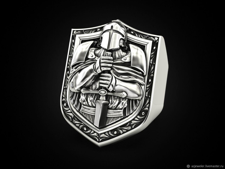 Кольцо рыцарь (артикул 311), Кольцо-печатка, Москва,  Фото №1