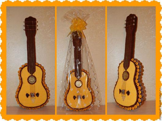 Персональные подарки ручной работы. Ярмарка Мастеров - ручная работа. Купить Гитара из конфет. Handmade. Гитара, композиция из конфет
