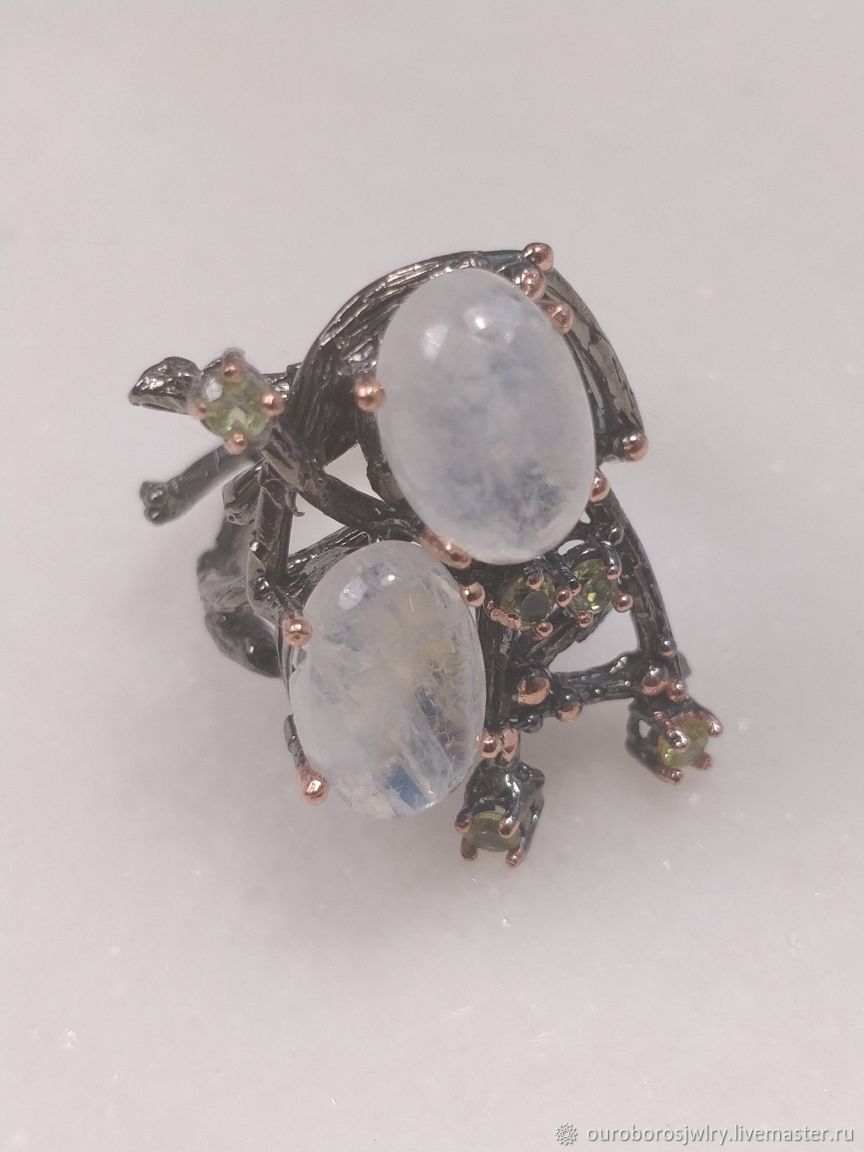 Silver Ring with moonstone, Rings, Novosibirsk,  Фото №1