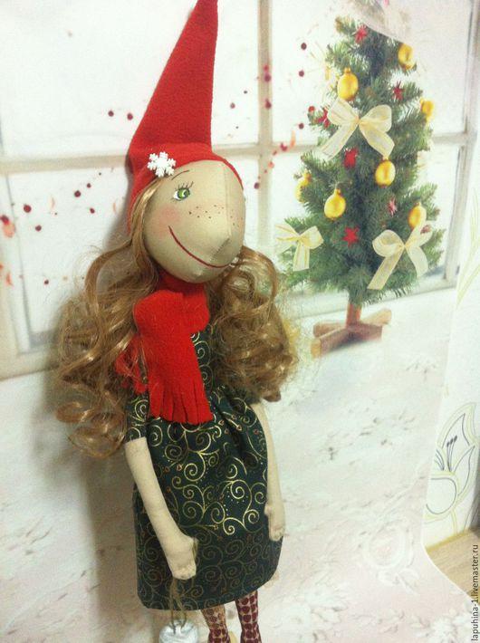 Куклы тыквоголовки ручной работы. Ярмарка Мастеров - ручная работа. Купить Рождественская Феечка. Handmade. Кукла ручной работы, кукла
