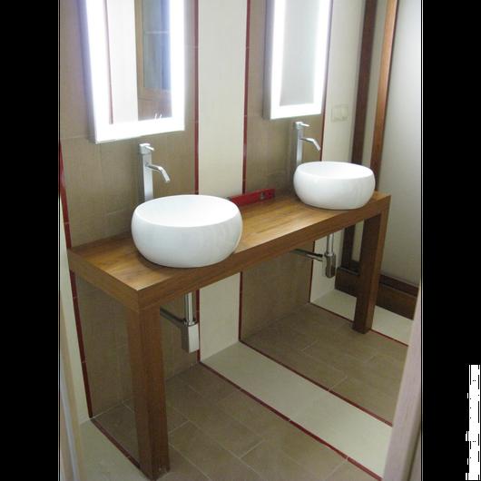 Мебель ручной работы. Ярмарка Мастеров - ручная работа. Купить столешница из тика/консоль-база для раковины в ванную. Handmade. Тик