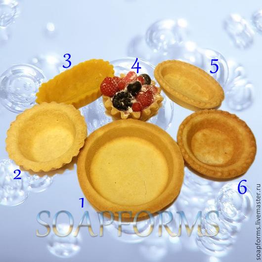 Силиконовая форма для мыла `Тарталетки, корзинки`