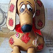 Куклы и игрушки ручной работы. Ярмарка Мастеров - ручная работа Такса Заплаточка. Handmade.