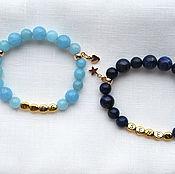 Украшения handmade. Livemaster - original item Personalized bracelets made of lapis lazuli and agate. Handmade.