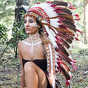 Подарки к праздникам handmade. Livemaster - original item Hat Indian. Indian Christmas costume. Indian hat with feathers. Handmade.