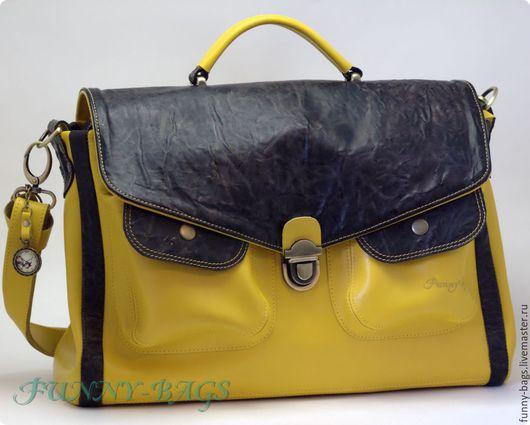 """Женские сумки ручной работы. Ярмарка Мастеров - ручная работа. Купить Большая сумка """"Желтый филин"""". Handmade. Однотонный"""