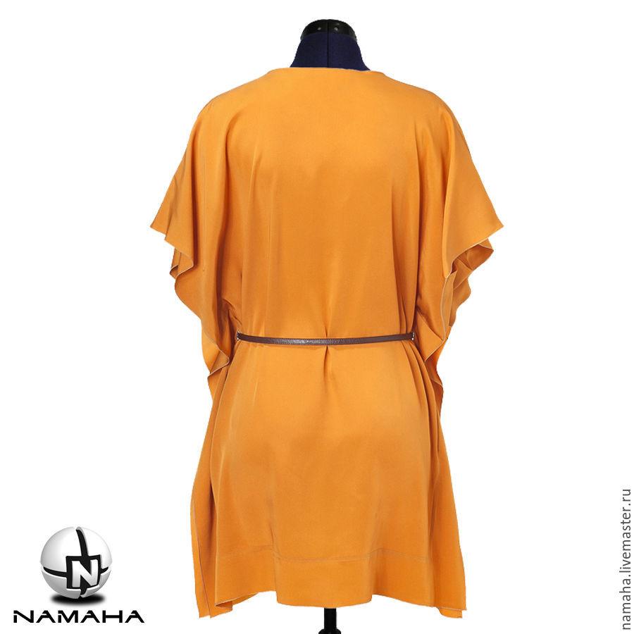 Жёлтое платье туника