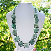 Украшения handmade. Livemaster - original item Necklace made of large natural green aventurine stones. Handmade.