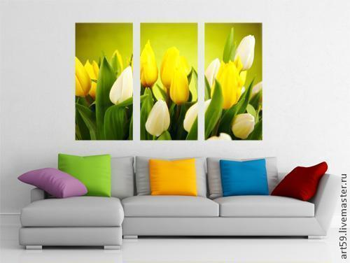 Картины цветов ручной работы. Ярмарка Мастеров - ручная работа. Купить Тюльпаны. Handmade. Тюльпаны, цветы, цветы ручной работы