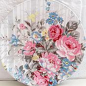 Для дома и интерьера ручной работы. Ярмарка Мастеров - ручная работа Тарелка настенная Весенний букет в пастельных тонах. Handmade.